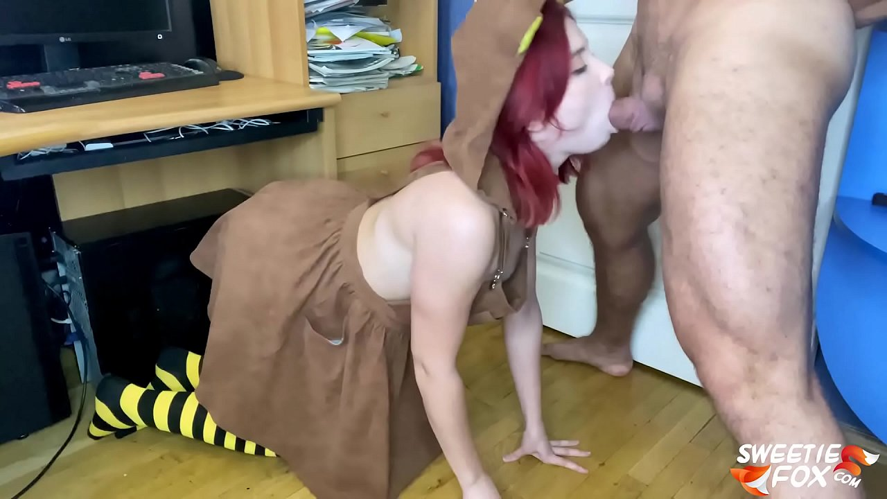 Man Hard Doggy Fuck and Facefuck Babe with Big Ass - Cute Cosplay