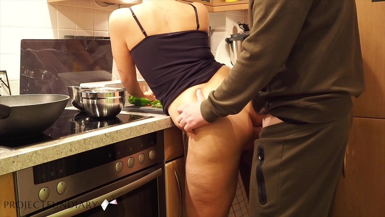 Fucking Wife's Friend in Kitchen After Make-up Sex