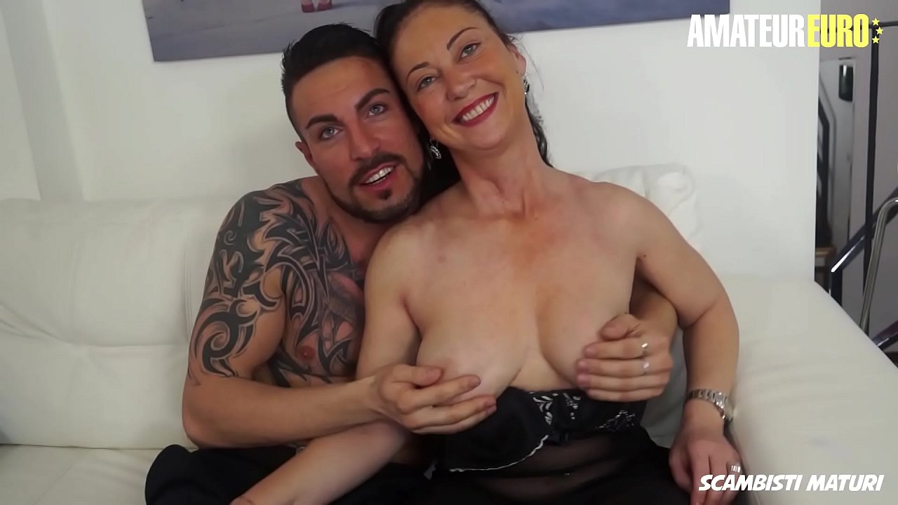 AMATEUR EURO - Horny Mature Lady Moana Prati Gets Deep Drilled On Cam By Young Stud Julius