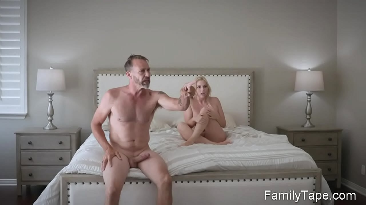 Stepdaughter walks in the room while parents are fucking