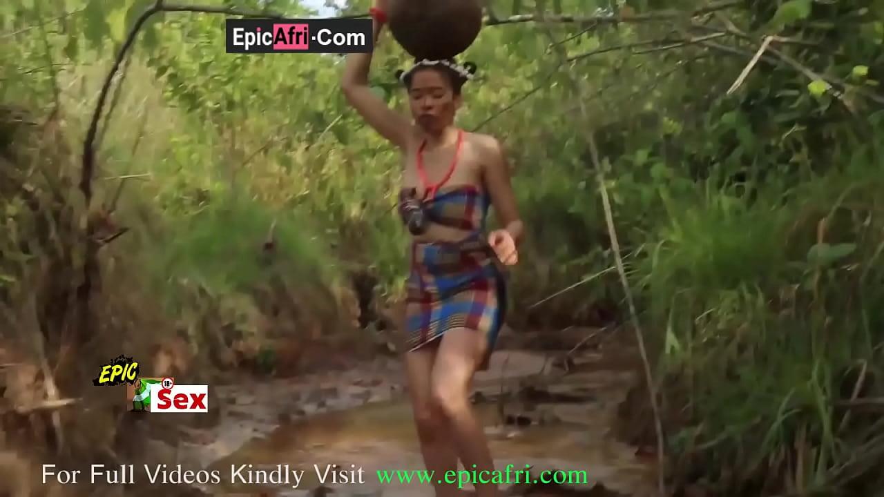 Slutty teen got fucked on her way back from village stream