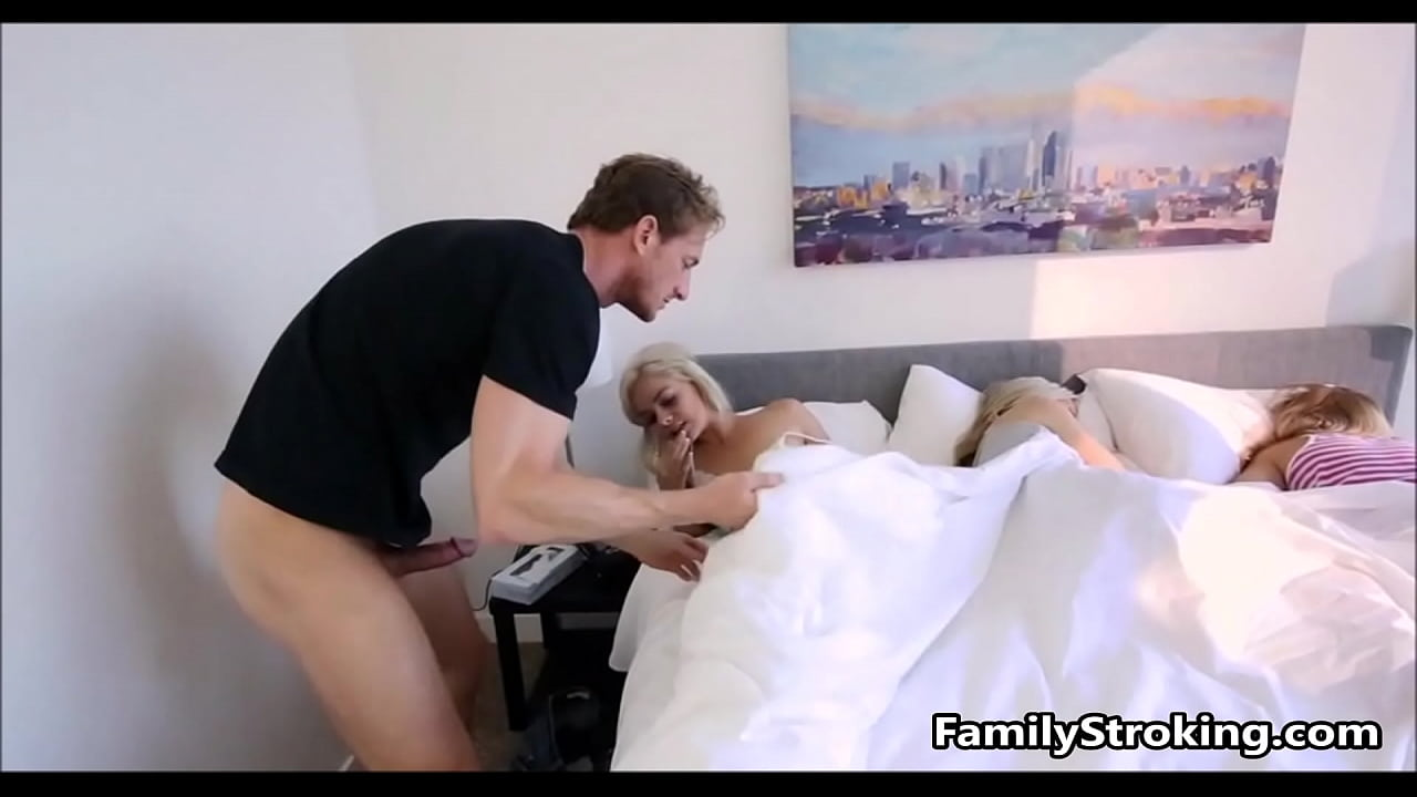 Step Dad Wakes Teen Daughters
