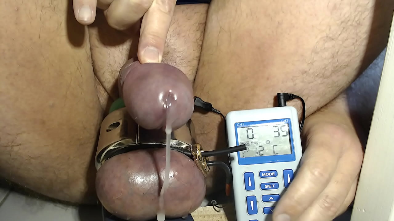 Cum estim Penis Torture