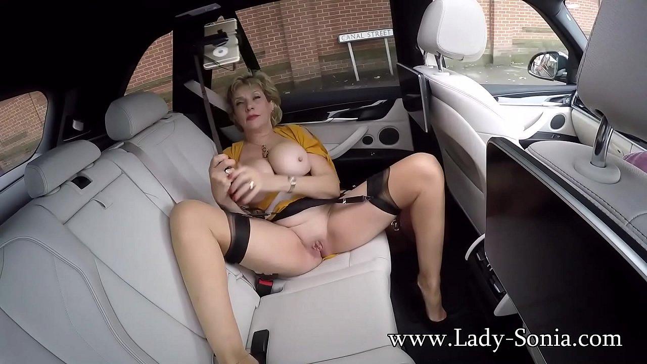 Solo Female Car Masturbation