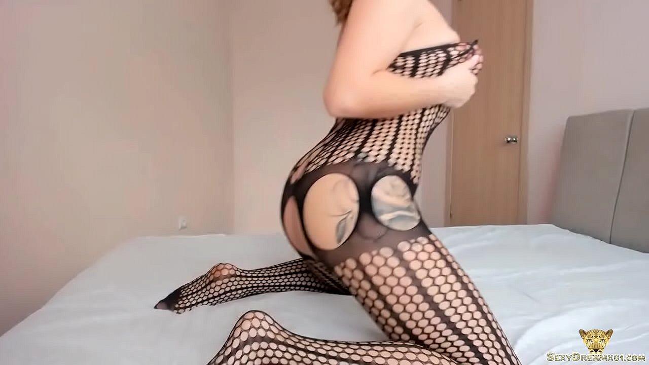 Lustful Babe in Pantyhose Fingering and Intensive Orgasm