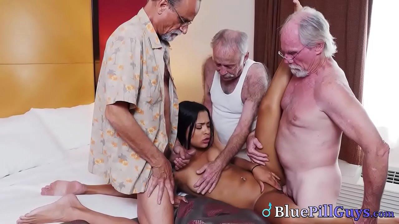 Latina Teen Old Man Homemade