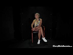 BLONDE GERMAN GABI'S FIRST GLORYHOLE VIDEO