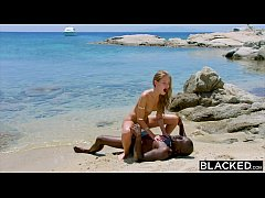 BLACKED Strong black man fucks blonde tourist o...