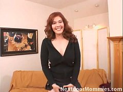 Redhead mom sucking and fucking