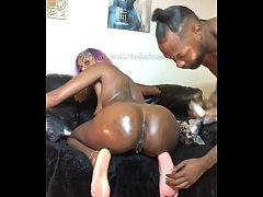Mrs.masked creams all over a big black dick for...