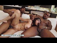MIA KHALIFA - My Big Black Cock Threesome With ...