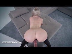 Isabella Clark - Busty blonde MILF rear ended a...