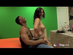 Big dicked black guy breaks Alba's tight teen p...