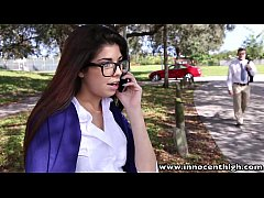 InnocentHigh Hot schoolgirl Ava Taylor in nerdy...