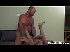 Hung mature guy thrusts his fat dick up his lov...