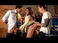 Deeper. Brooklyn Gray Aggressive DP Behind Dump...