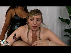 Mistress Makes Slave Girl Suck Cock