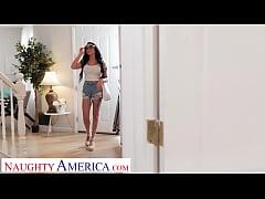 Naughty America - Big tit brunette Gianna Grey ...