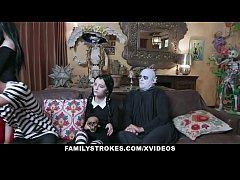 FamilyStrokes - Costumed Teen And Milf Get Fuck...