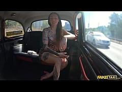 Fake Taxi Tattooed babe seduces the taxi driver...