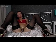 Margo Takes Off Her Gstring & Fingers Her Pussy