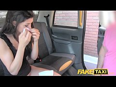 Fake Taxi John makes guys gf squirt and cums on...