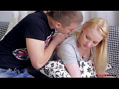 Seductive Russian teen Lola Taylor rides his bi...