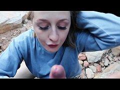 Road Trip Girlfriend Flashing Deepthroat Blowjo...