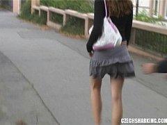 CZECH AMATEUR GIRLS SHARKED ON THE STREETS