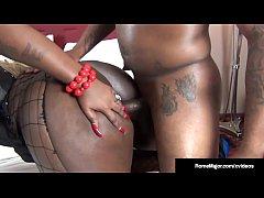 Black Stallion Rome Major Pounds Ebony BBW Mizz...