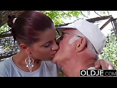 Young Girlfriend caught fucked by old man she s...
