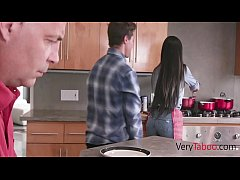 Son Slides His Bacon Inside Mom While Dad Eats-...