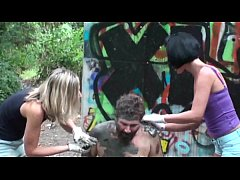 Femdom Ladies tortured slaves