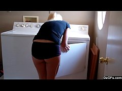 Doing The Laundry And Masturbating On The Dryer