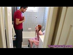 Petite redheaded teen
