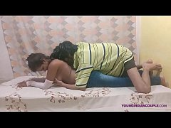 big boob Indian teen girl takes huge cock in al...