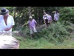 wild german outdoor groupsex orgy