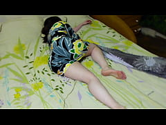 My sister is beautiful in this dress ... oh god she fell sleepy .... I want to fuck her