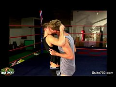 Boxing jocks having sex in the gym