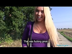 Public Agent Teen blonde Briana Bounce with the...