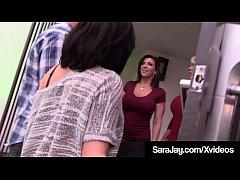 PAWG Milf Sara Jay Milks Dick With Kimmie Lee &...