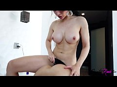 Busty Brunette Pussy Fucking Strapon Hot Lesbia...
