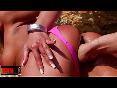 Hot bigtit blonde fucked hard in the ass at the...