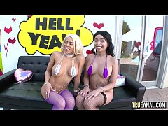 TRUE ANAL Luna and Aaliyah in a hardcore anal t...