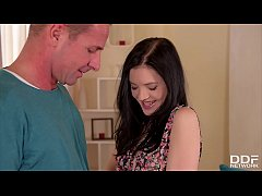Wet & horny Czech teen Anie Darling rides big f...