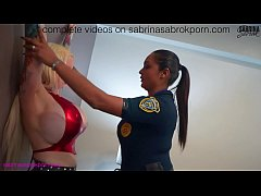 Sabrina Sabrok gets arrested by police woman