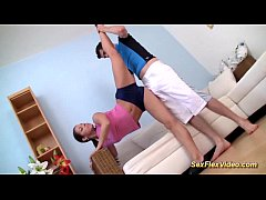 gymnast teen stretched and fucked