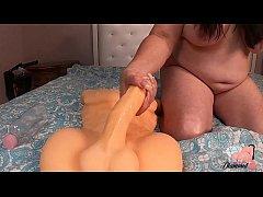 Dirty Mom Jerks Off 2 Big Dick Dildos