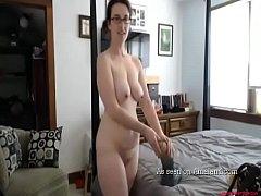 Caught Mom Masturbating on the big bed