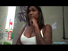 Public Agent Sexy ebony with huge boob and juic...